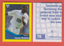 Leeds United Lucas Radebe South Africa 78 BBL